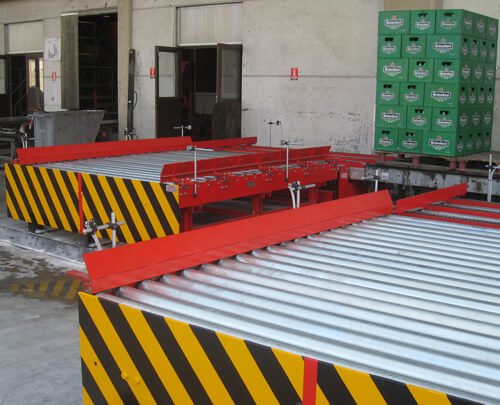 Athenian Brewery S.A. Roller conveyors